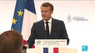 French president Emmanuel Macron lays out France's foreign policy priorities