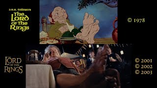 The Lord Of The Rings Side-by-Side: Ralph Bakshi ('78)/Peter Jackson ('01-'03)