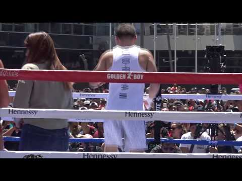 THEFIGHTGUYS HIGHLIGHTS OF GENNADY GGG GOLOVKIN PUBLIC MEDIA WORKOUT