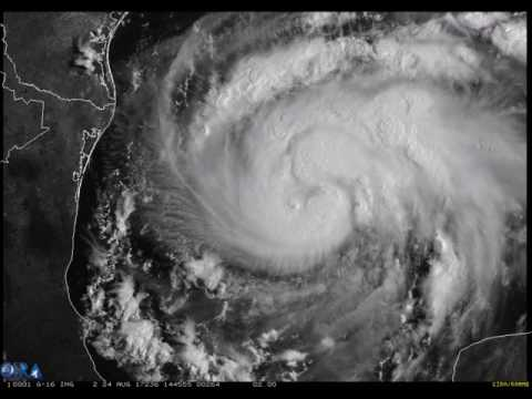 GOES-16 Watches Strengthening Hurricane Harvey in the Gulf