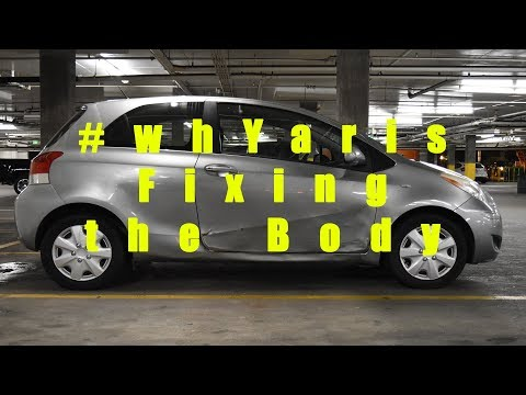 #whYaris fixing the dent