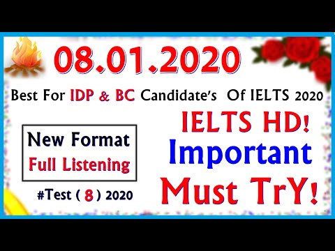 IELTS LISTENING PRACTICE TEST 2020 WITH ANSWERS | 08.01.2020