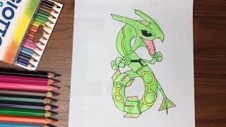 Dạy bé tập vẽ rồng Ray - PoKeMon