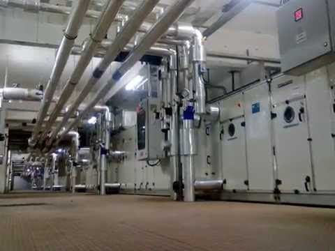 How To Installed The Ahu Air Handling Unit Youtube