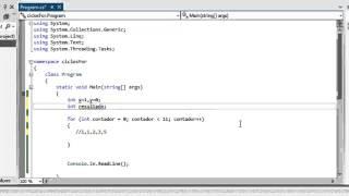 C# (Sharp) - Sentencia For(ciclos), practica serie Fibonacci en C#