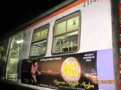 """Gudnet film """"M3"""" publicity on Mumbai Local"""