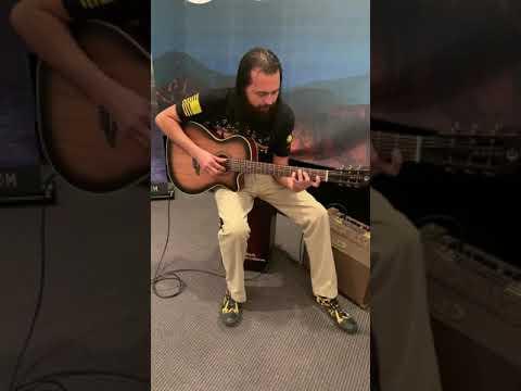Luna Vintage Nylon String Guitar with Fishman & Solid Top