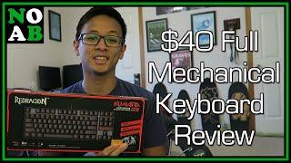 $40 Full Mechanical Keyboard - Redragon Kumara K552 Review and 5K Subs Appreciation!