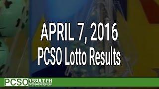 pcso lotto results april 7 2016 6 49 6 42 6d swertres ez2