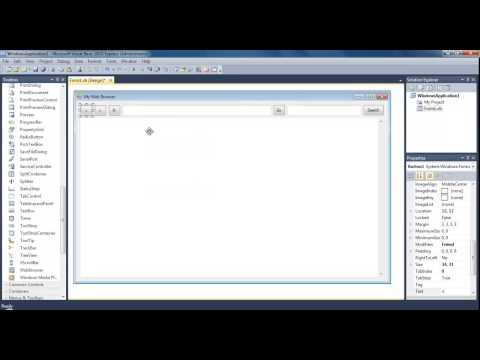 Learn Visual Basic - #18 - Web Browser with Search Bar