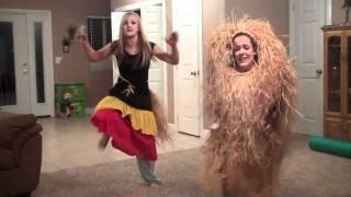 Little person tribal dance
