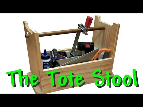 This  wood tool box converts into step stool. What a great wood shop idea!