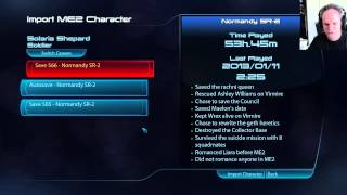 Mass Effect 3 - How to Properly import a Mass Effect 2 Character into ME3 for PC - oTV