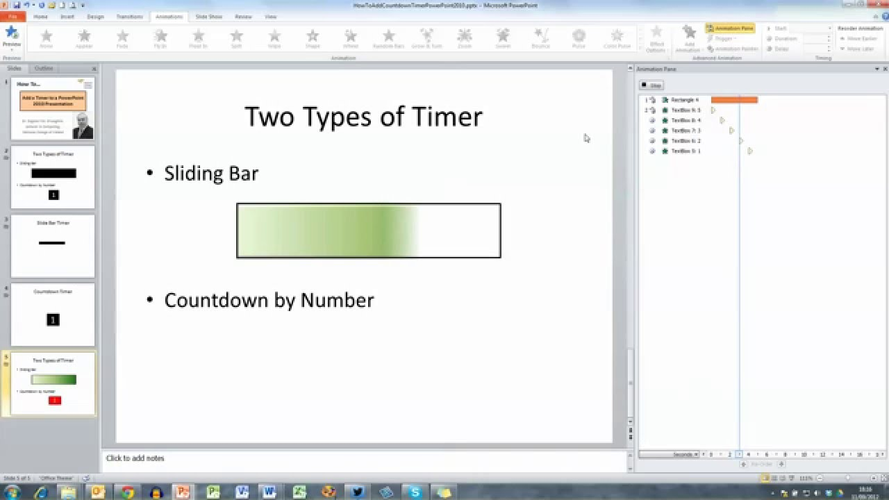 how to add a timer to a powerpoint 2010 presentation youtube