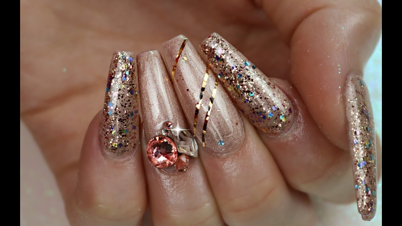 How To Apply Big Crystals To Nails That Last Youtube