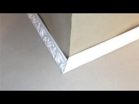 видео: Как правильно вырезать внешний (наружный) угол на плинтусе или багете, без приспособлений?