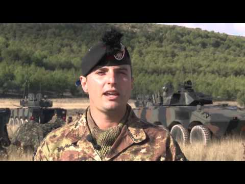 Italian Army logistic activities previous the exercise