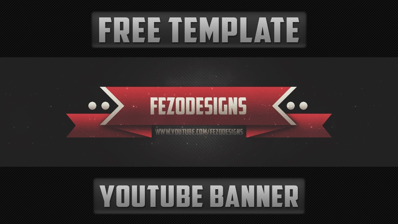 2d youtube banner template free download youtube
