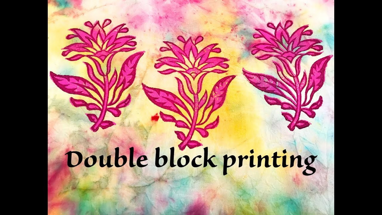 Double Printing Blocks Fabric Design Ideas Youtube