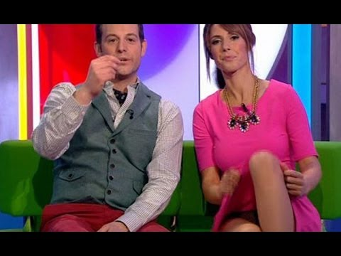 Attractive TV Host Alex Jones Flashes Knickers on Live TV