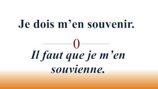 French Subjunctive : subjonctif des verbes en ir 3e groupe