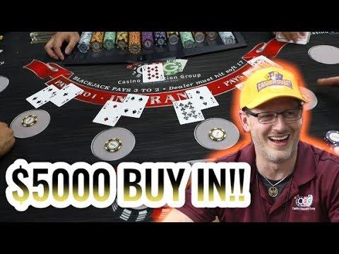 $5,000 BUY IN High Limit Blackjack - Live Blackjack Session