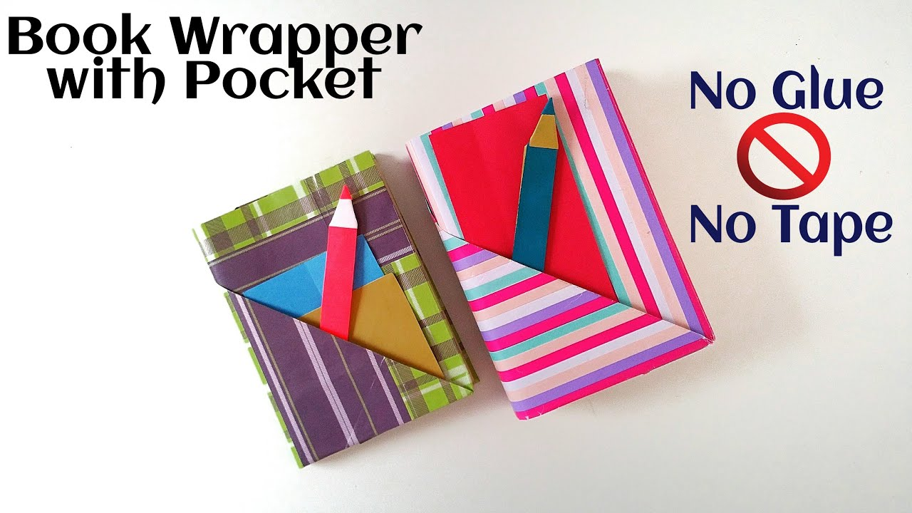 "Useful Origami - Paper ""Book wrap with Pocket & Bookmark"