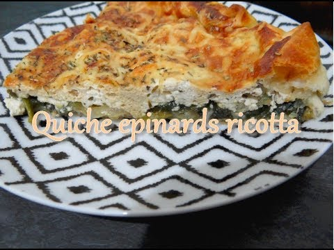 recette-healthy---tarte-Épinards-ricotta---perte-de-poids