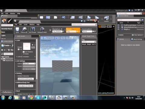 Unreal Engine 4 Cloth Tutorial