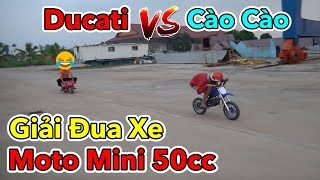 Lâm Vlog - Giải Đua Xe Moto Mini 50cc | Moto Ducati Mini vs Cào Cào Mini - Ducati vs Motocross Bike