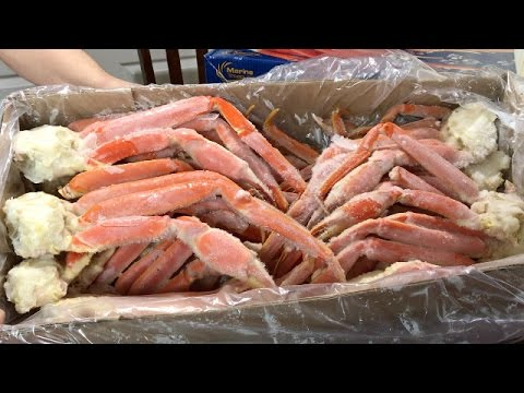 Snow Crab Legs Feast Christmas Dinner Preview