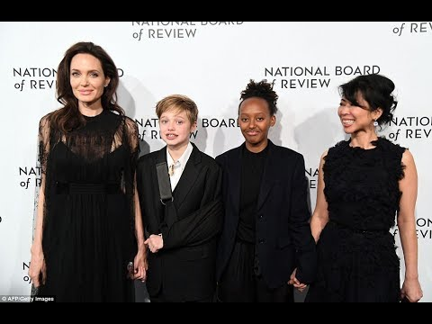 Angelina Jolie wears black alongside daughters at National Board of Review Awards