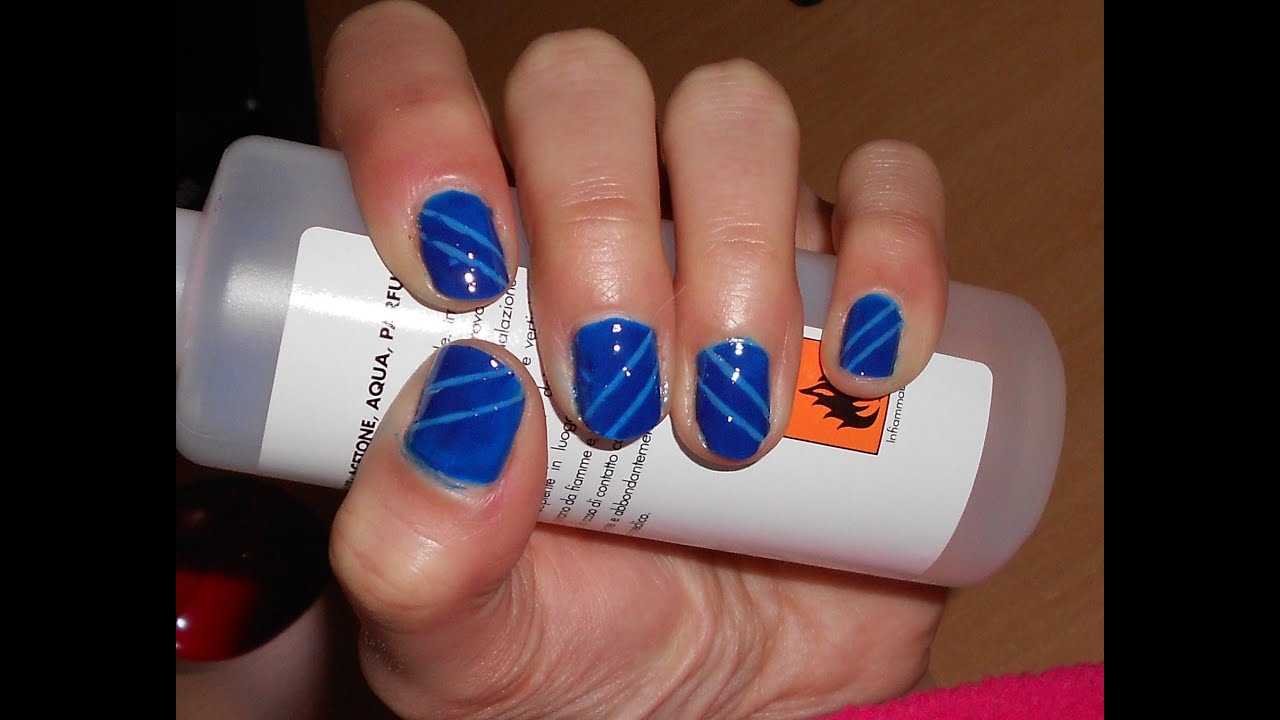 Bien connu Nail art per unghie corte ultra facile e veloce con smalti . - YouTube CF97
