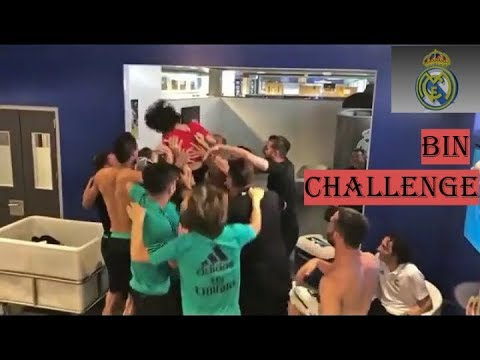 marcelo vieira son: Macelo's son Enzo vieira does the bin challenge with Real Madrid Squad