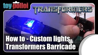 Transformers Deluxe Barricade - Custom lights