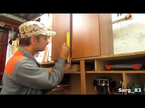 Навесные шкафы для кухни своими руками из дсп