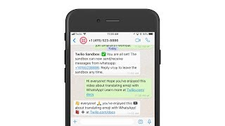 👉 Emoji translations with the 📞Twilio API for 💬WhatsApp and Node.js