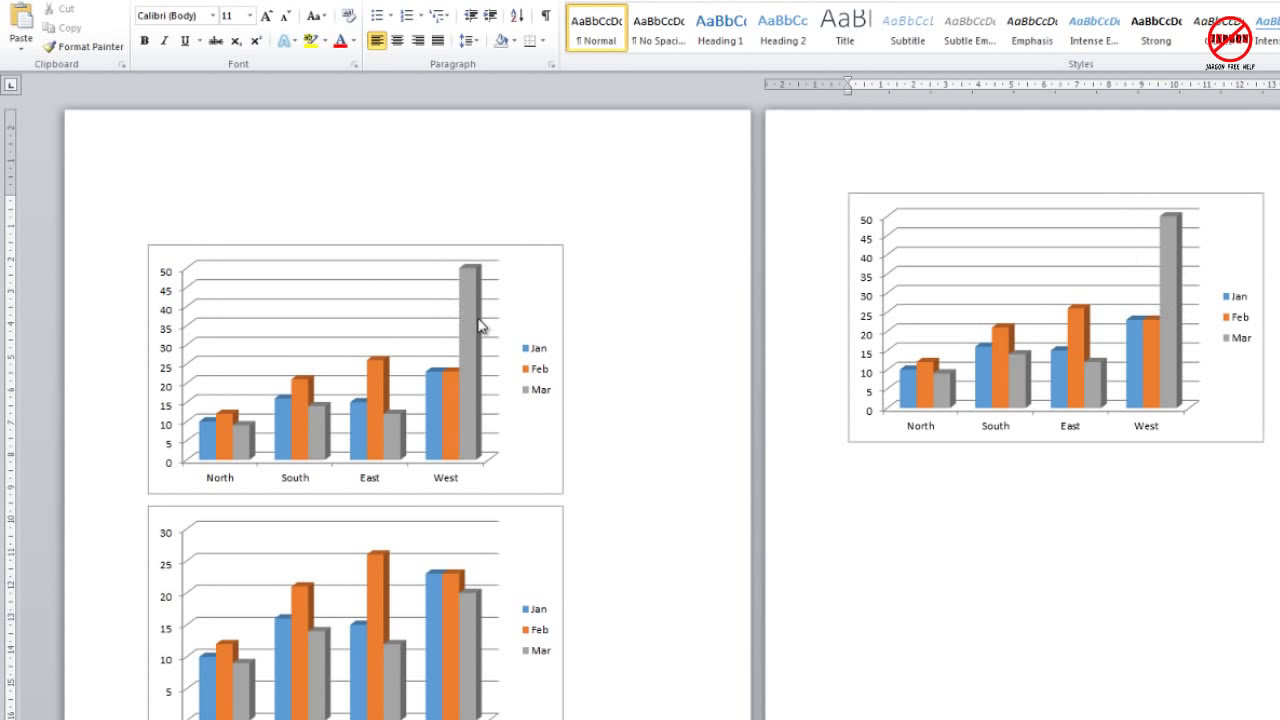 How to copy and paste  chart from excel word also youtube rh