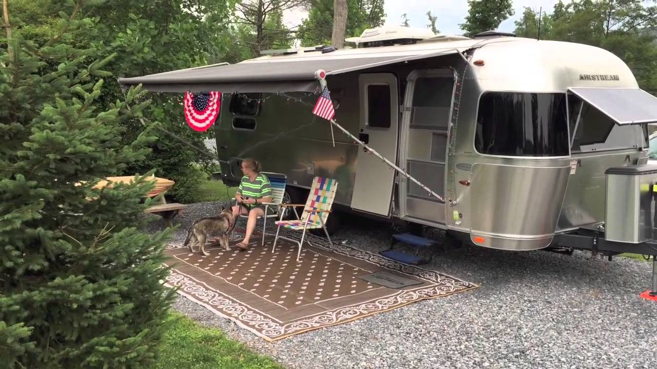 airstream camping at twin grove camping rv resort campground youtube. Black Bedroom Furniture Sets. Home Design Ideas