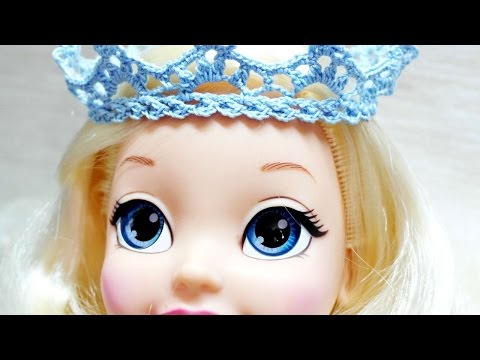 How To Make A Crocheted Princess Crown For Doll - DIY Crafts Tutorial - Guidecentral