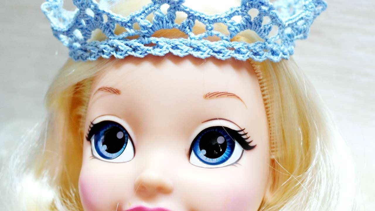 How To Make A Crocheted Princess Crown For Doll - DIY Crafts ...