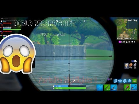 WORLD RECORD SNIPE 300+ METERS!!!!!(Fortnite Funny Fails & Amazing Plays)