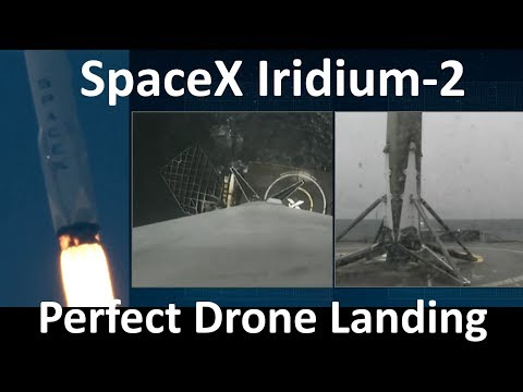 SpaceX Upgraded Falcon 9 Successful Launch & Clear Droneship Landing - Iridium-2 (2017-06-25)