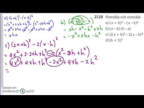 Matematik 5000 2b   Kapitel 2   Konjugatregeln och kvadreringsreglerna   2128
