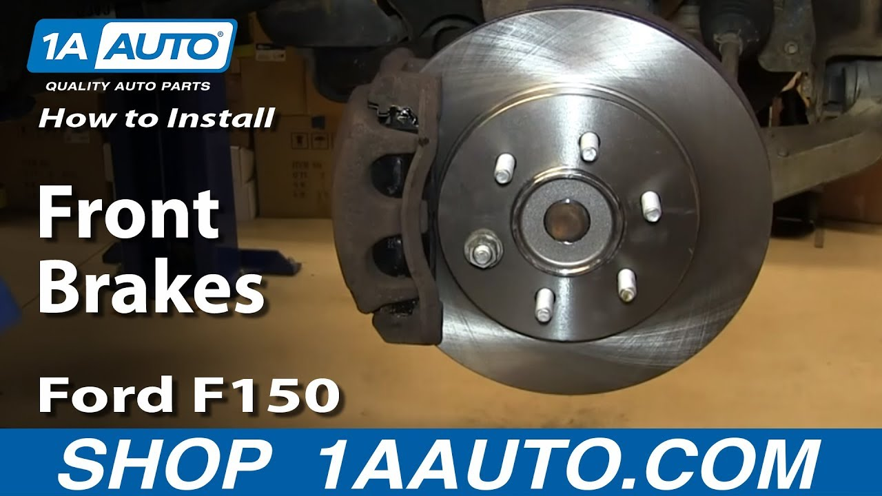 11a0d928745 How To Replace Front Brakes 04-08 Ford F150 - YouTube