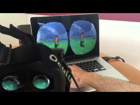 Oculus Rift WebVR virtual reality dinosaur demo