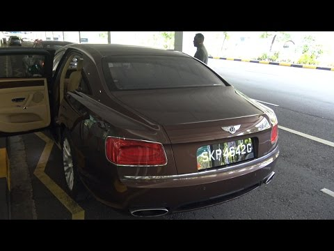 Bentley Flying Spur - Changi Airport to St Regis Hotel, Singapore