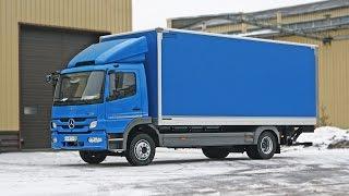 Mercedes Atego 1222 изотермический фургон с подъемной шторкой и гидробортом Palfinger(изотермический фургон с подъемной шторкой и гидробортом Palfinger., 2014-07-22T17:48:54.000Z)