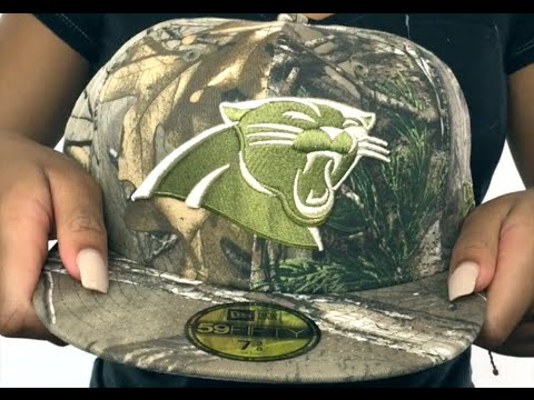 new concept 3f4b7 2e133 Panthers  NFL TEAM-BASIC  Realtree Camo Fitted Hat by New Era