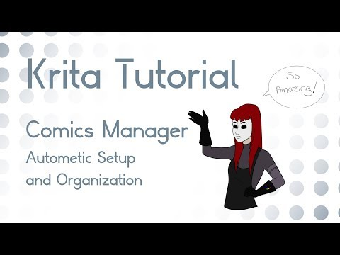 Krita 4.1+ Tutorial: NEW Using the Comics Manager Docker and System